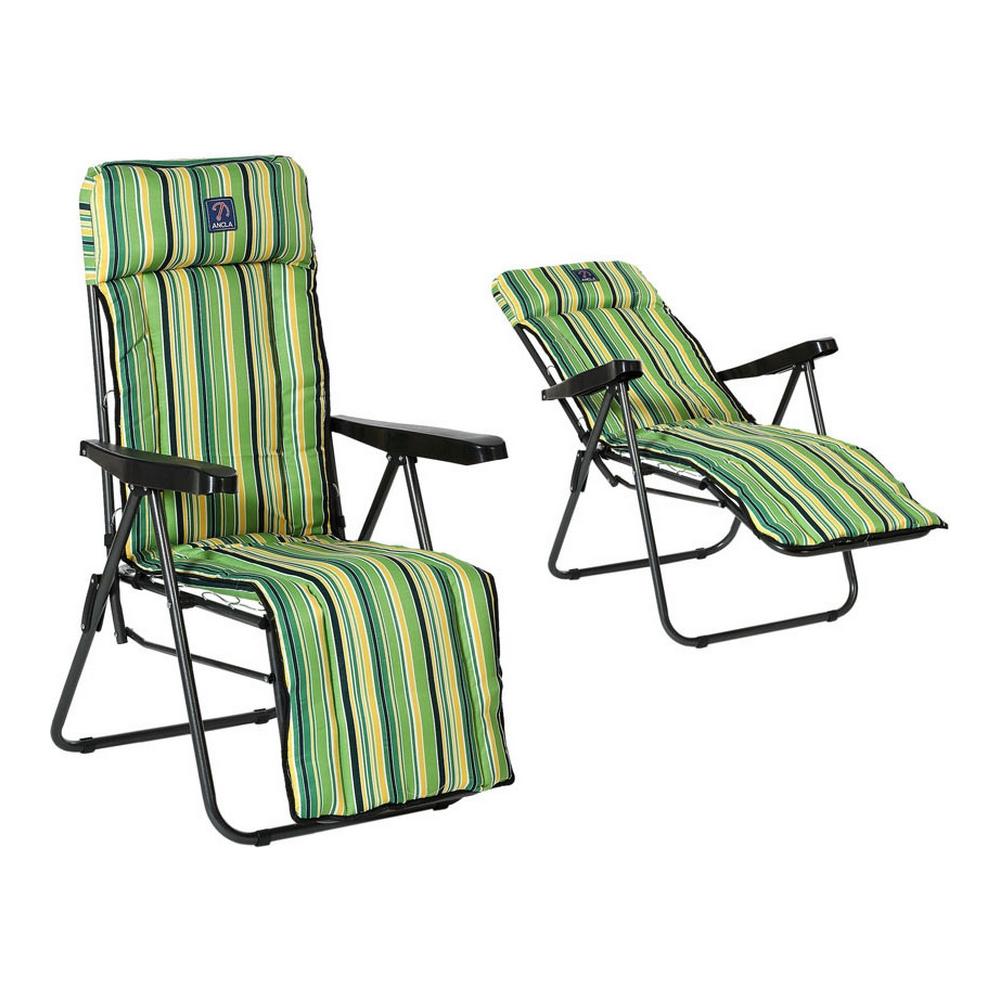 Beach sunbed Oxford Green (77 x 58 x 106 cm)