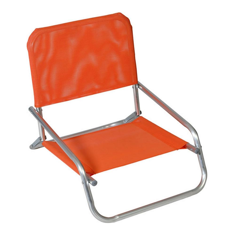 Beach Chair Textline Orange (66 x 47 x 53 cm)