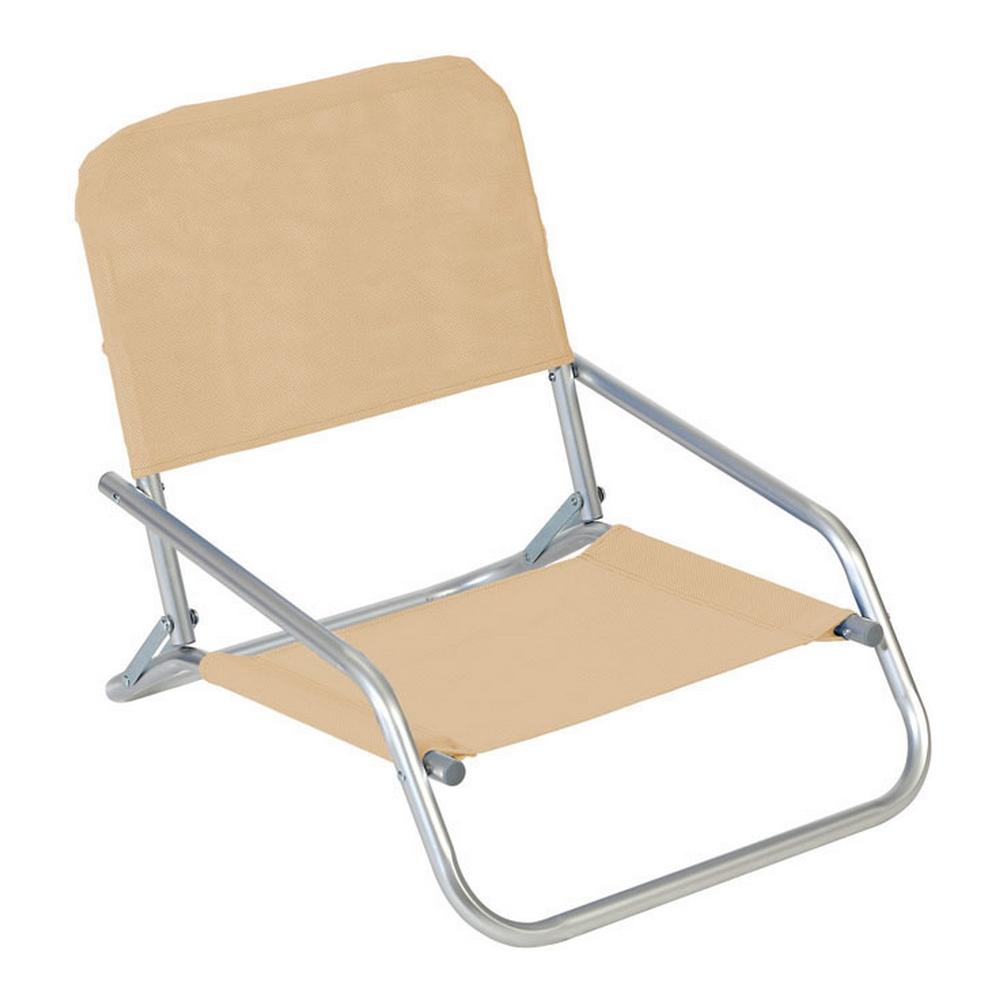 Beach Chair Textline Beige (66 x 47 x 53 cm)