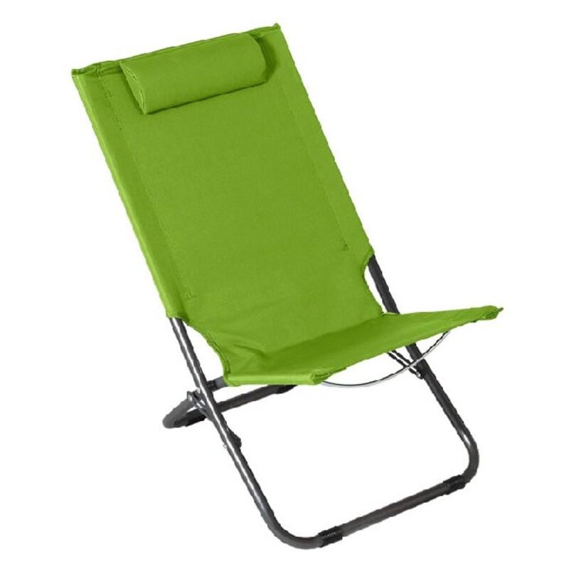 Beach Chair Steel Green (62 x 48,5 x 28/72)