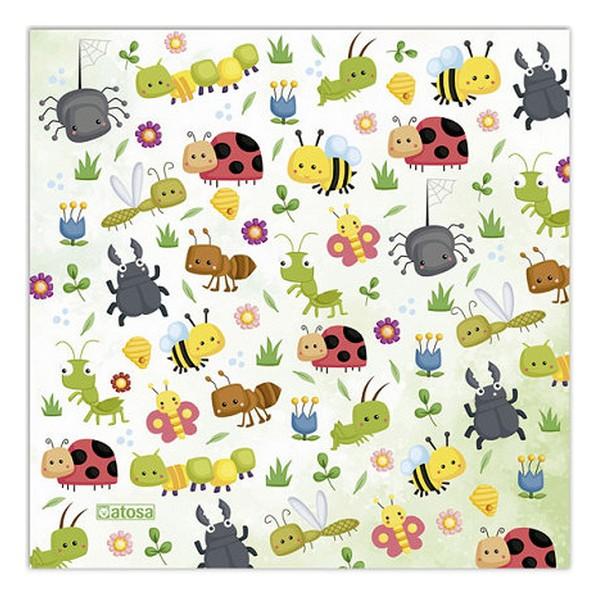 Mascarilla Higiénica de Tela Reutilizable Infantil Insectos (1)