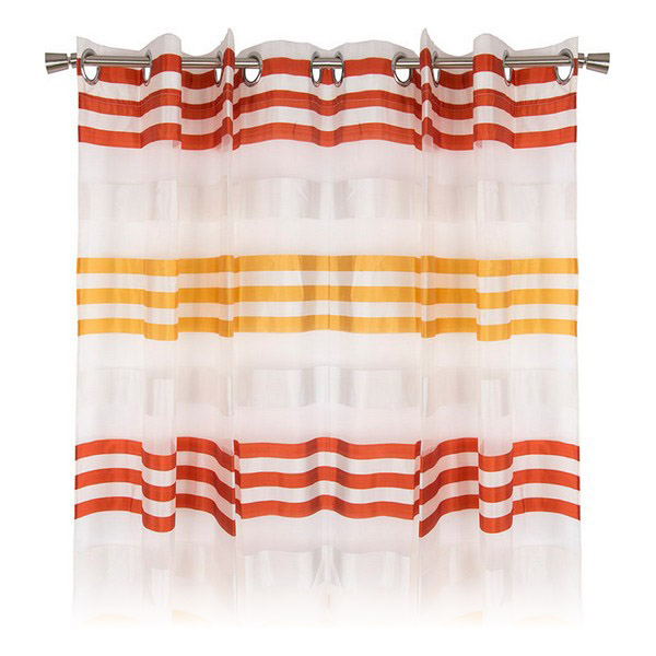 Curtain DKD Home Decor Striped Red Polyester (140 x 275 cm)
