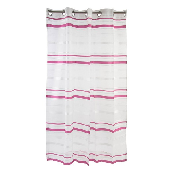 Curtain DKD Home Decor Striped Maroon Polyester (140 x 275 cm)
