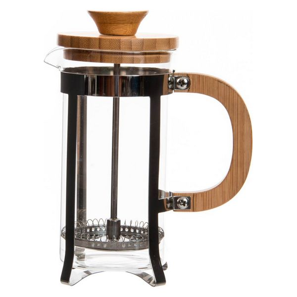 Cafetière with Plunger Dekodonia Bamboo Stainless steel (350 ml)