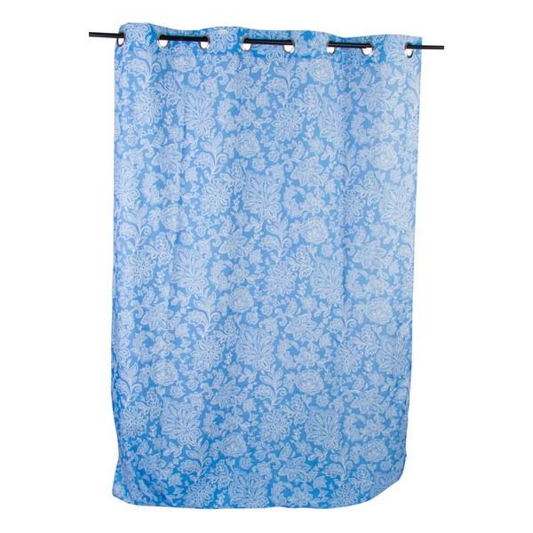 Curtain DKD Home Decor Blue Polyester (140 x 270 cm)