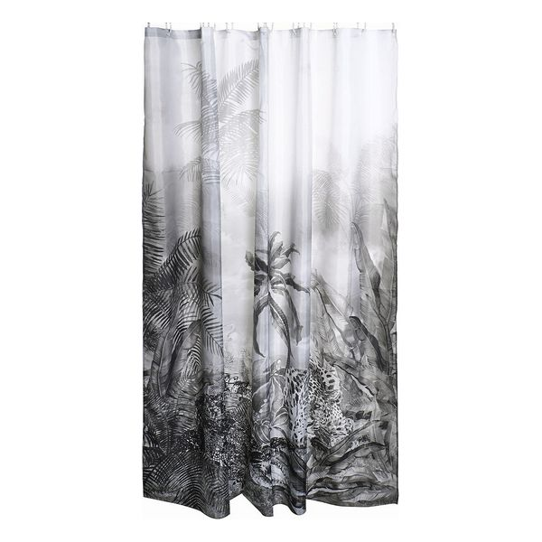 Shower Curtain Dekodonia Tropical Polyester (180 x 200 cm)
