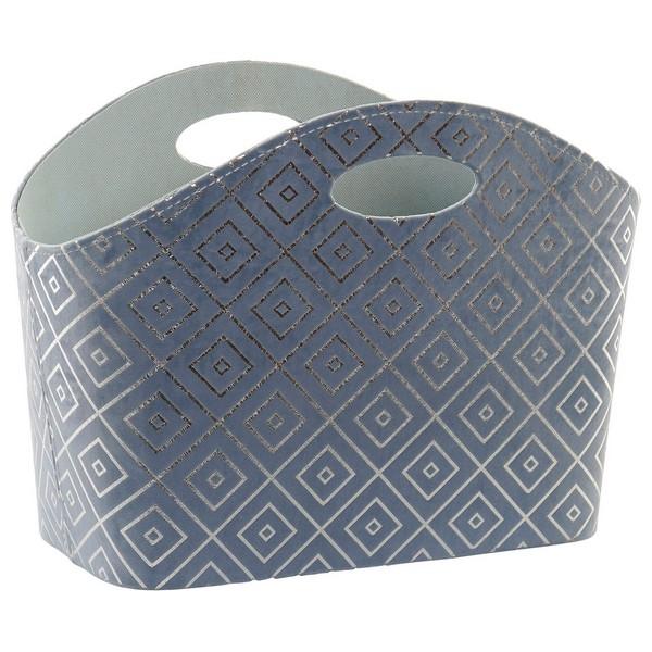 Magazine rack DKD Home Decor Polyester Silver (40 x 30 x 30 cm)