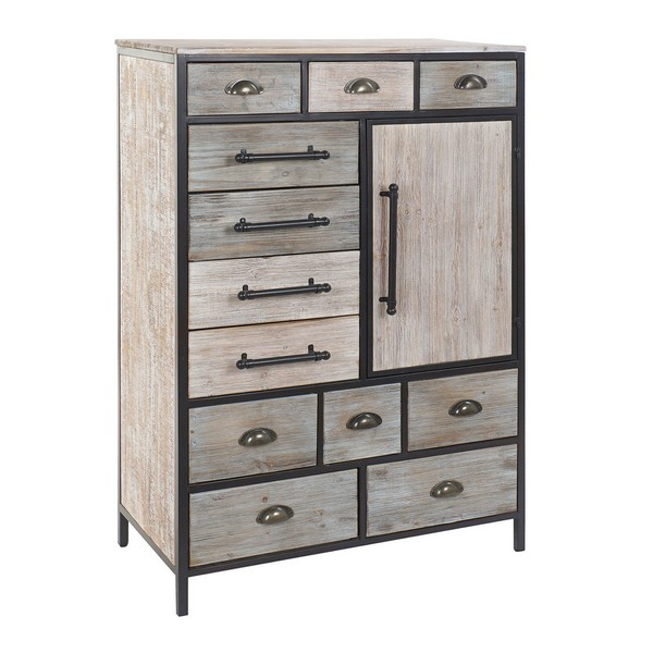 Chest of drawers DKD Home Decor Wood Metal (80 x 40 x 122 cm)