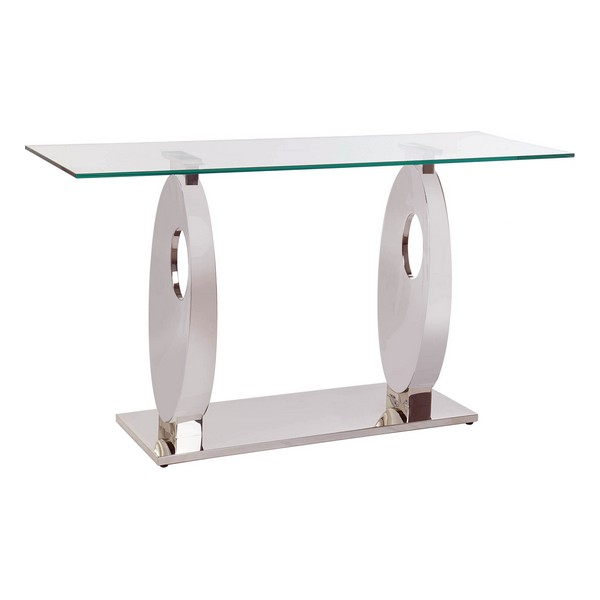 Console DKD Home Decor Praise Crystal Steel (150 x 45 x 80 cm)