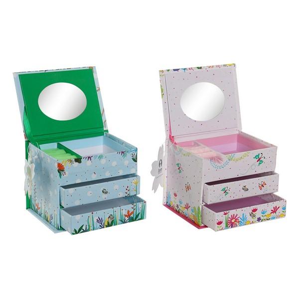 Jewelry box Dekodonia Tropical (13 x 10 x 10 cm) (2 pcs)