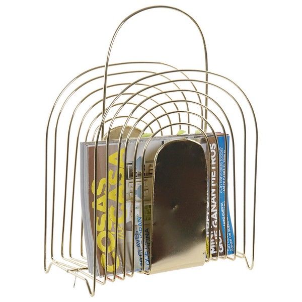 Magazine rack DKD Home Decor Golden Metal (32 x 16 x 45 cm)