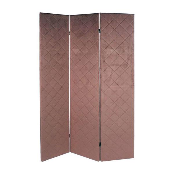 Folding screen DKD Home Decor Pink Polyester (124 x 3 x 172 cm)
