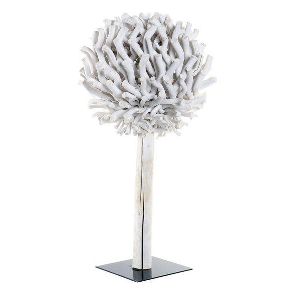 Decoration Dekodonia Tree Circular White Wood
