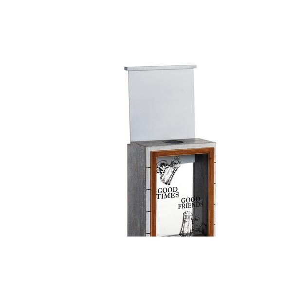 Abrebotellas DKD Home Decor Cristal Madera MDF (2 pcs) (22 x 12 x 29 cm) (2)