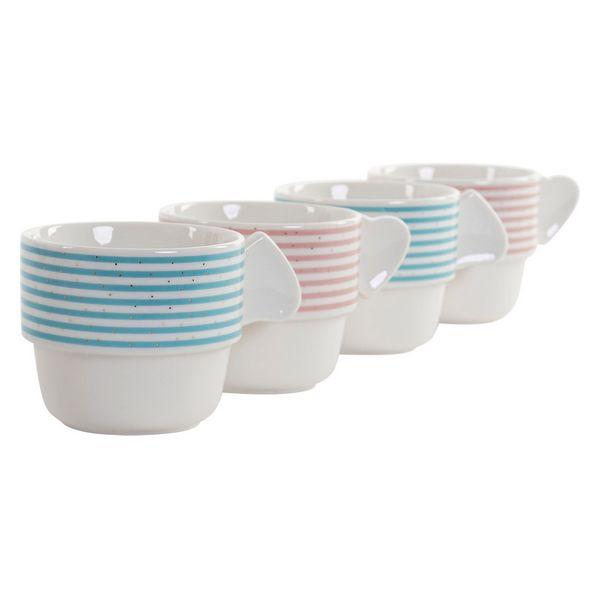 Juego de Tazas de Café DKD Home Decor Rayas (200 ml) (4 pcs) (2)