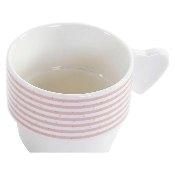 Juego de Tazas de Café DKD Home Decor Rayas (200 ml) (4 pcs) (1)