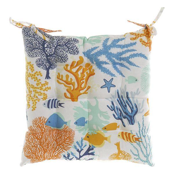 Chair cushion DKD Home Decor Ocean Blue (43 x 43 x 5 cm)