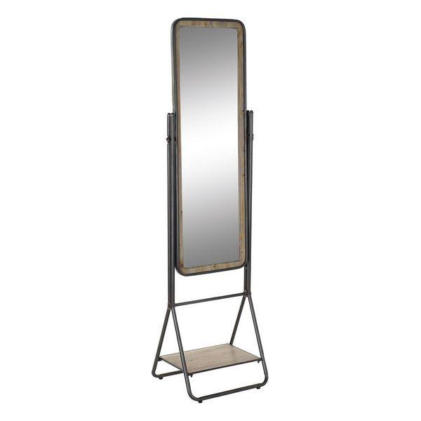 Free standing mirror DKD Home Decor Shelve Metal Fir (47 x 41 x 177 cm)