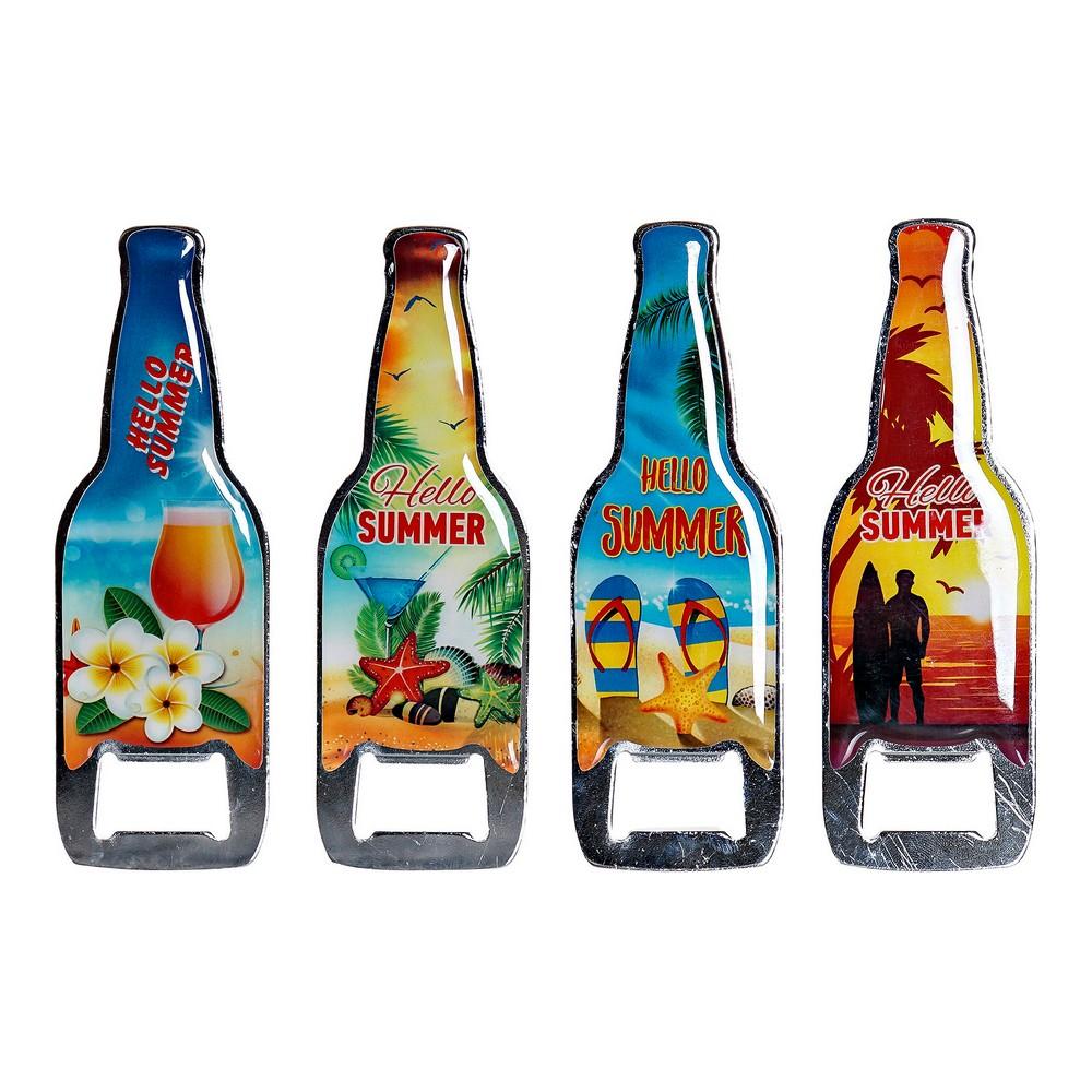 Bottle opener DKD Home Decor Metal (4 pcs) (4 x 4 x 12 cm)