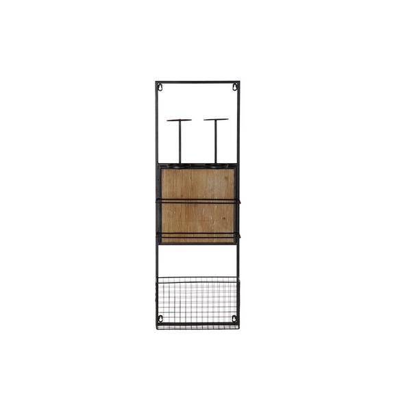 Bottle rack DKD Home Decor Metal Fir (30 x 10 x 90 cm)