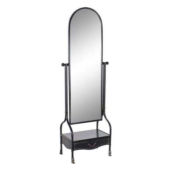 Free standing mirror DKD Home Decor Drawer Vintage (64 x 40 x 183 cm)