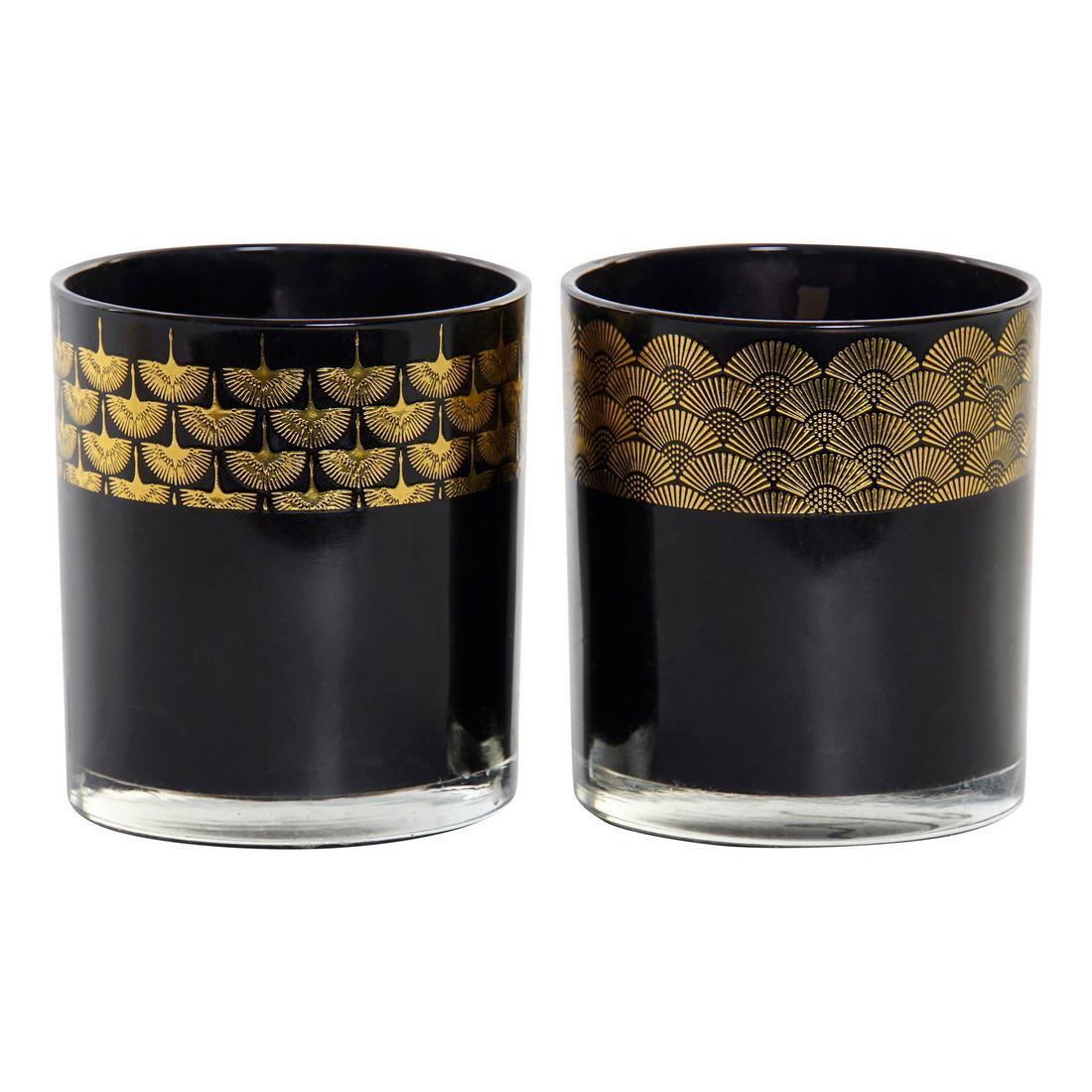 Candle DKD Home Decor Black (2 pcs)