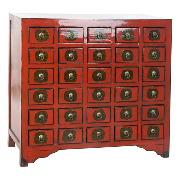 Chest of drawers DKD Home Decor Red Oriental Elm wood (105 x 44 x 98 cm)