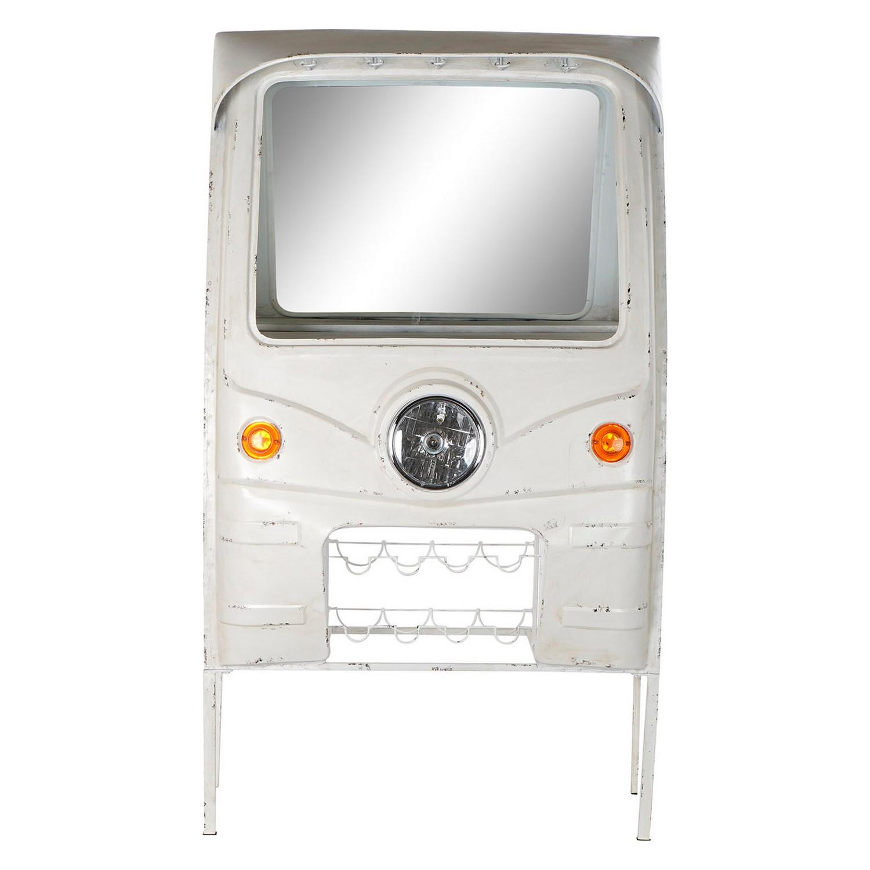 Bottle rack DKD Home Decor White Metal Mirror (98 x 43 x 170 cm)