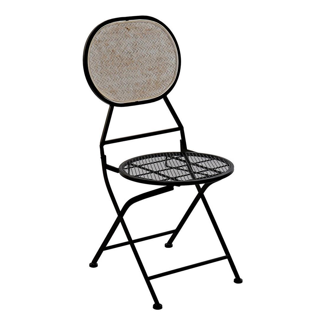 Garden chair DKD Home Decor Metal Bamboo (42 x 50 x 92 cm)