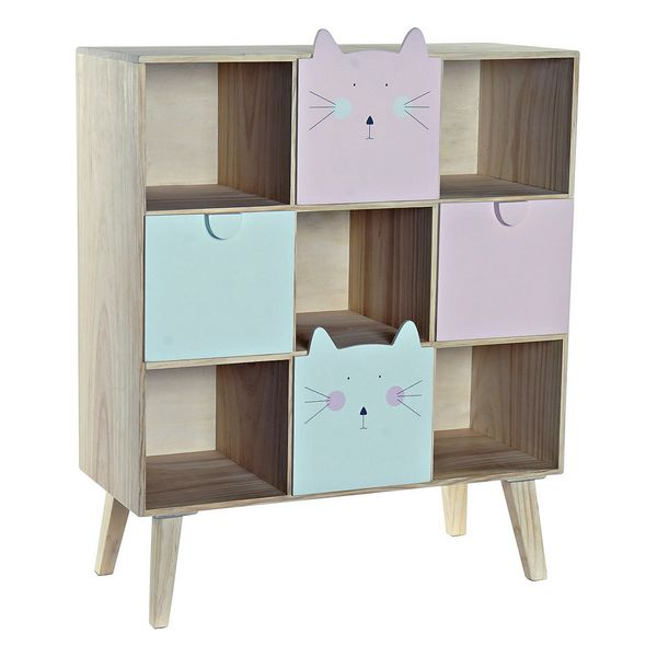Chest of drawers DKD Home Decor Pine Cats (64 x 37 x 79 cm)