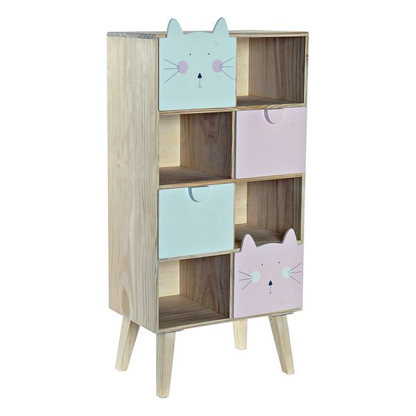 Chest of drawers DKD Home Decor Pine Cats (40 x 25 x 85 cm)