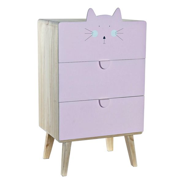 Chest of drawers DKD Home Decor Cat Pine (40 x 28 x 71 cm)