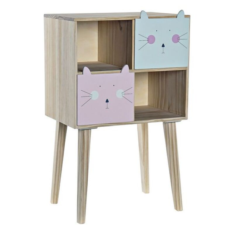 Chest of drawers DKD Home Decor Pine Cats (40 x 27 x 66 cm)