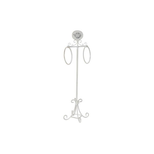 Free-Standing Towel Rack DKD Home Decor White Metal (30 x 29 x 98 cm)