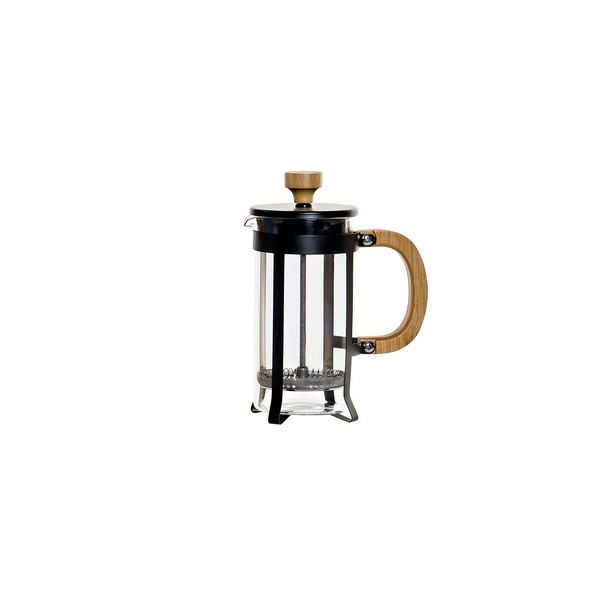 Cafetière with Plunger DKD Home Decor Bamboo Stainless steel (13 x 7 x 17 cm)