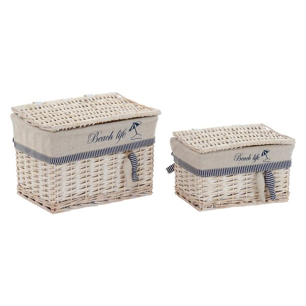 Basket Dekodonia Beach Life Cotton wicker (2 pcs)