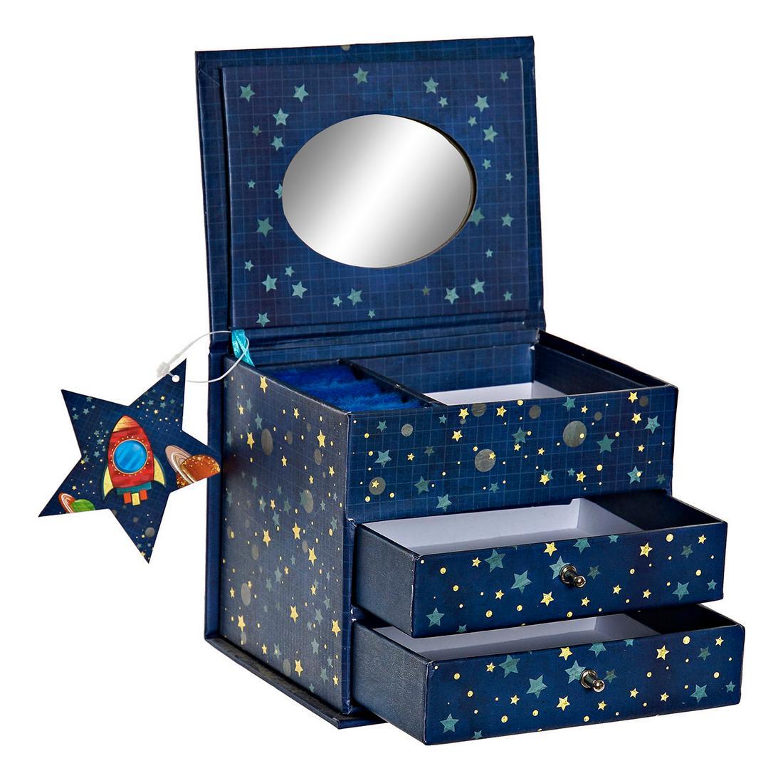 Jewelry box DKD Home Decor Cosmos (13 x 10 x 10.2 cm)