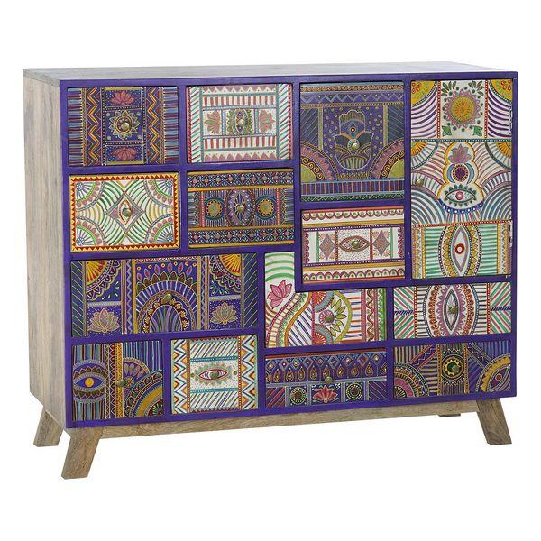 Chest of drawers DKD Home Decor Folk Multicolour Mango wood (110 x 35 x 88 cm)
