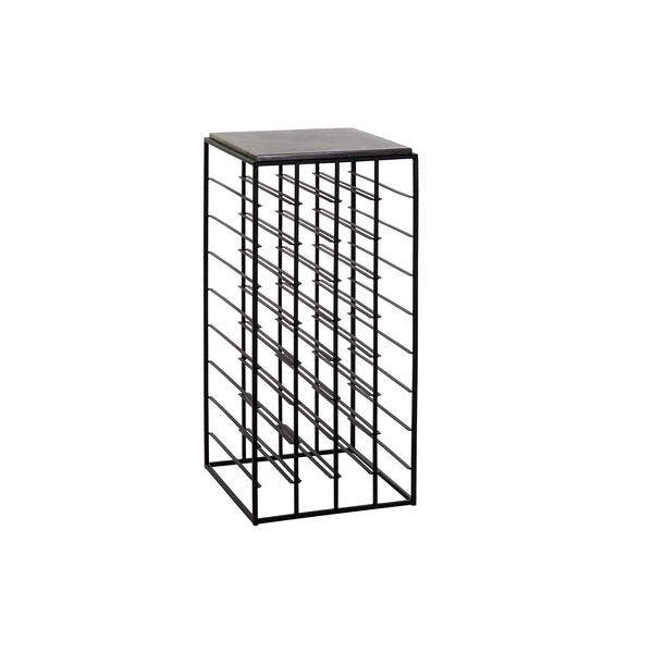 Bottle rack DKD Home Decor Metal Stone (37 x 37 x 81 cm)