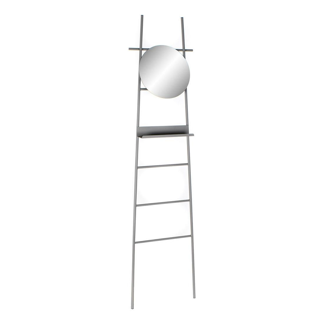 Free-Standing Towel Rack DKD Home Decor Grey Metal Mirror (46 x 10 x 180 cm)