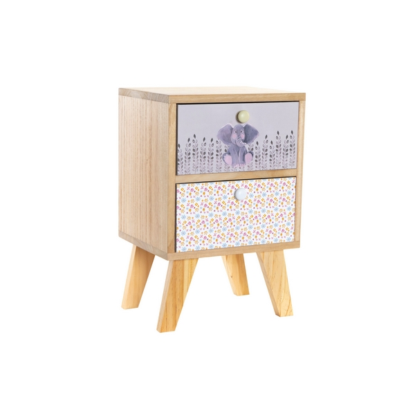 Nightstand DKD Home Decor Children's Paolownia wood (30 x 25 x 47 cm)
