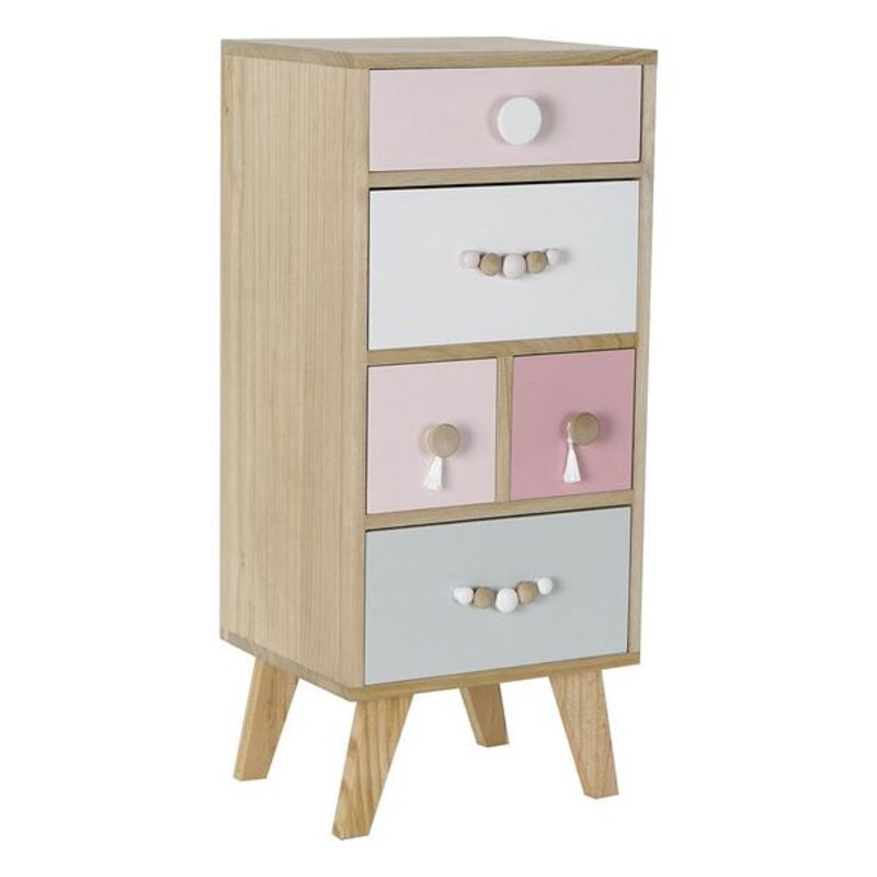 Chest of drawers DKD Home Decor Children's Paolownia wood (35 x 30 x 80 cm)