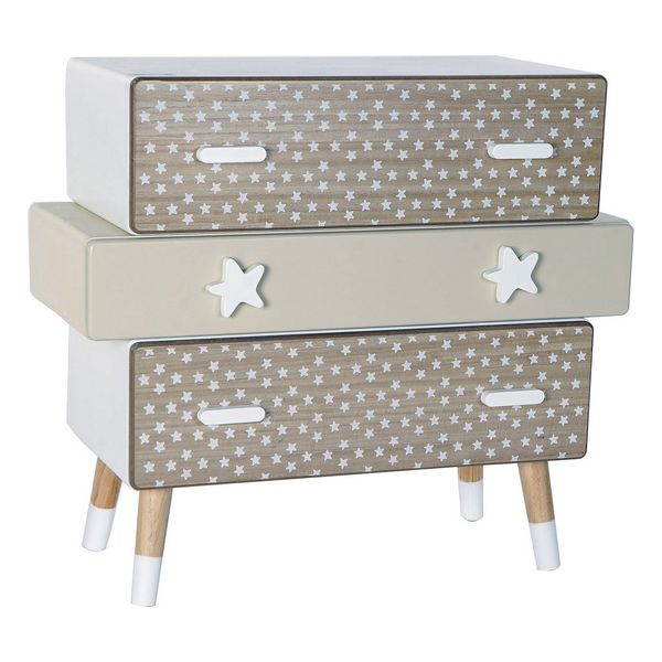 Chest of drawers DKD Home Decor Paolownia wood Stars (70 x 30 x 63 cm)