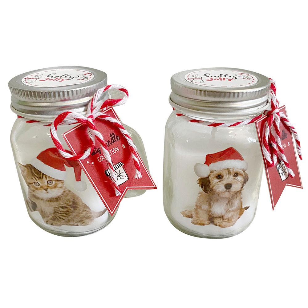 Candle DKD Home Decor animals Christmas (2 pcs) (8 x 5 x 9 cm)