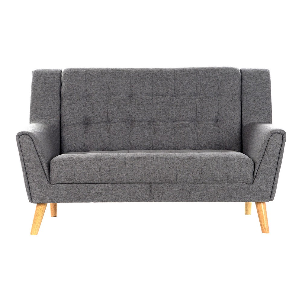 Sofa DKD Home Decor Linen Traditional Dark Grey (143 x 80 x 88 cm)