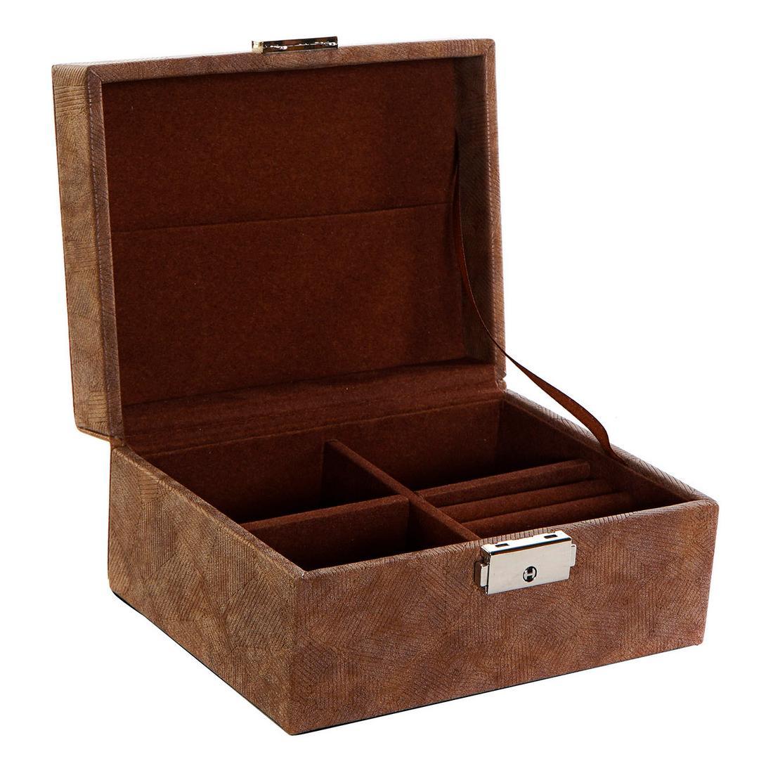 Jewelry box DKD Home Decor Polyurethane Vintage MDF Wood (17 x 13 x 8.5 cm)