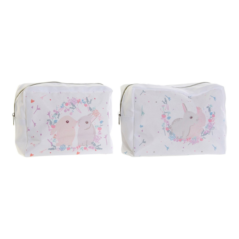 Child Toilet Bag DKD Home Decor White (2 pcs) (20 x 8 x 14 cm)