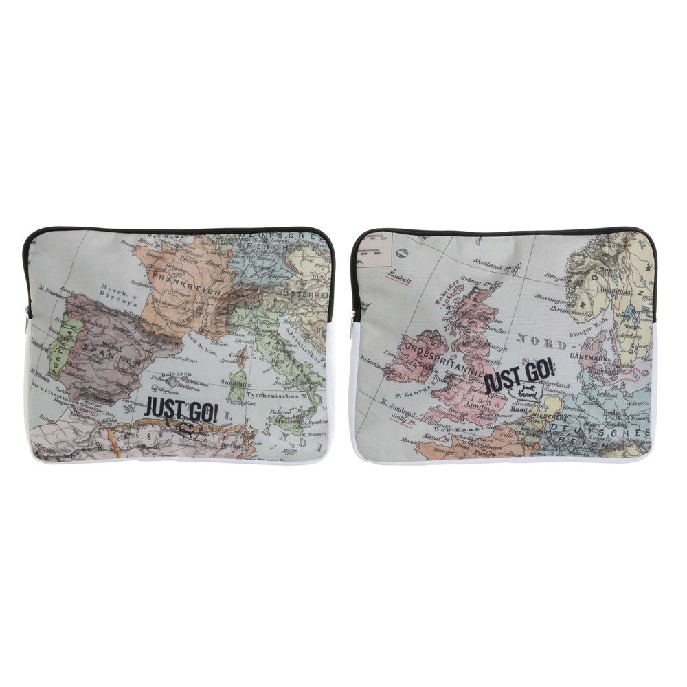 iPad Case DKD Home Decor Just Go Polyester Canvas World Map (2 pcs)