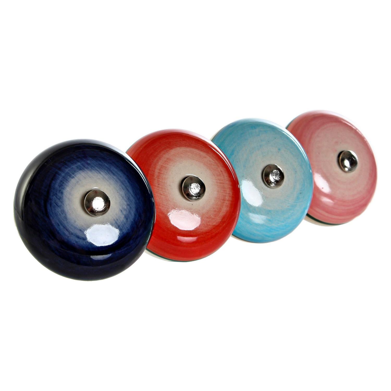 Doorknob DKD Home Decor Metal Ceramic (4 pcs)