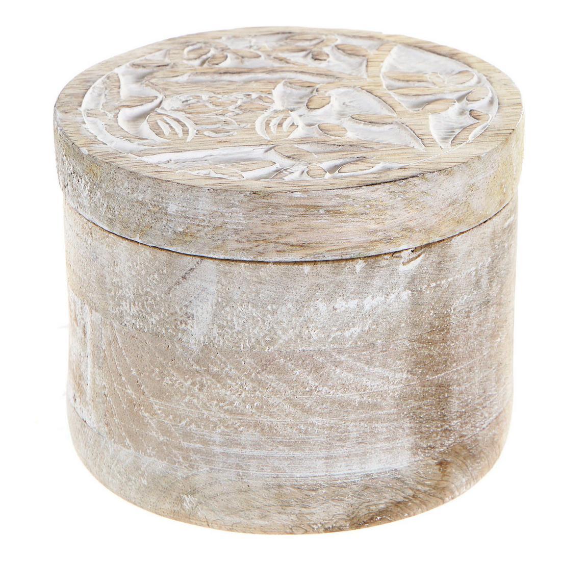 Jewelry box DKD Home Decor Indian Man Mango wood (10 x 10 x 8.5 cm)